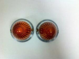 BMW Isetta 300 600 Amber Acrylic Turn Signal Lens Set - NEW - (#144)