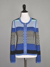 BANANA REPUBLIC $78 Color Block Geo Print Zip Front Cardigan Sweater XS