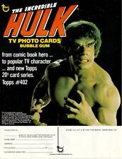 1979 THE INCREDIBLE HULK DEALER SELL SHEET