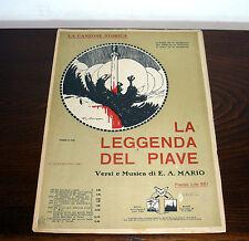 SPARTITO LA LEGGENDA DEL PIAVE  E.A. MARIO - ANNO 1918  -  illustratore scorzon