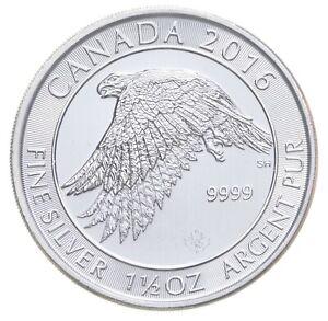 Better Date - 2016 Canada $8 - 1 1/2 Oz. Silver Snowy Gyrfalcon - SILVER *301