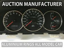 Kia CarensI 2000-2002 Chrome Gauge Trim Dial Rings Polished Alloy New x3
