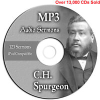 Charles CH Spurgeon-123 Bible Sermons-Preach-Commentary-Study-Quote-MP3 Audio CD