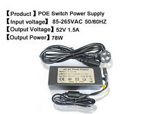 power adapter for IP Camera DC 52V 1.5A 78W switching power adapter 5.5*2.1mm