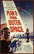 Plan 9 From Outer Space 1959 Science Fiction Horror Film Vintage Poster Print
