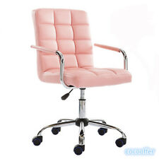 Faux Leather Adjustable Swivel Office Chair Desk Armchair High Back Wheels Stool