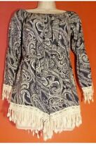 Women's Juniors Hippie Boho Indie Jumper Romper Short By SEE YOU MONDAY SMALL