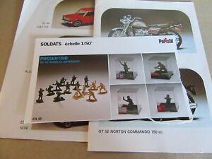 128K Vintage Toys Polistil 10 Sheets Motorcycles Cars