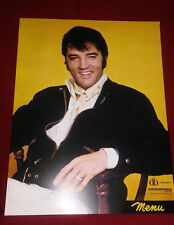 Elvis Presley DVD Housed in a Replica Las Vegas International Hotel Menu *NEW*