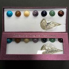 Chakra Sphere Pendulum Cone  with 7 Interchangeable crystals
