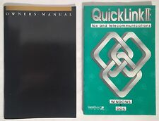 Lot Of (2) ZOOM Fax Modem External V.34 28.8 & Quicklink II Software Manuals PC