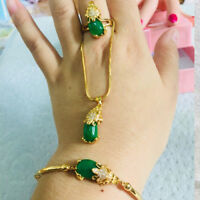 Lucky rouge Pixiu jade ring 24k yellow gold filled Anneaux cadeau d/'anniversaire Partitions