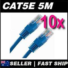 10x 5m Blue Cat5 Cat5E 100Mbps  RJ45 Ethernet Network LAN Patch Cable