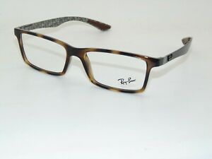 Ray Ban RB 8901 5846 Havana Tortoise Carbon Fiber 55mm Rx Authentic Eyeglasses