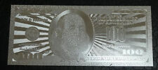 100 DOLLAR SILVER - NEW USA BILL - EACH IN BILL HOLDER - GREAT COLLECTIBLE GIFT