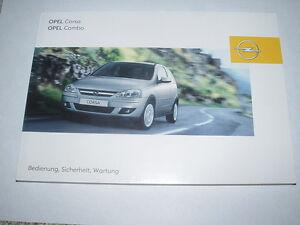 Bedienungsanleitung Opel Corsa C Combo, Ausgabe 01/2005 (neu) #bac0105