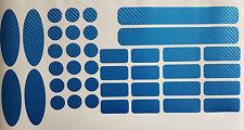 Fahrrad Rahmen Schutz Carbon Blau MTB Ketten Rahmenschutz Cube Ghost 40 tlg.