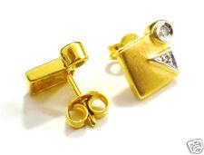 Ohrstecker Goldohrringe mit Diamant 333er Gold 8 Karat GG + WG Brillant Ohrringe