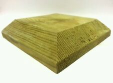 """four Post caps for 4"""" fence posts, decking, treated wood"""