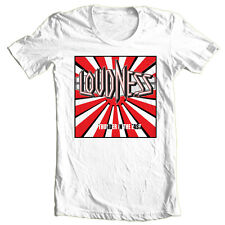 Loudness T-shirt 80's heavy metal rock band concert 100% cotton printed tee