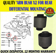 FOR MITSUBISHI OUTLANDER REAR DIFFERENTIAL ARM BUSH / BUSHES DIFF MOUNITING X2