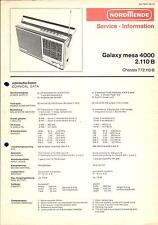 Nordmende Service Manual für Galaxy mesa 4000