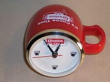 Carnation Advertising Mug Shaped Display Clock