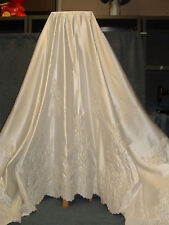 Wedding Dress Ivory Satin Fabric embroidered w/pearls  3 yards