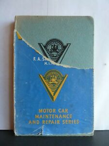 CAR MAINTENANCE SERIES: VAUXHALL CARS - F.A STEPNEY ACRES Hardback 1957 Pearson