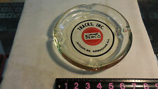 LARGE GLASS TRACK'S,INC. BERCO JACKSON,MS. & B'HAM,AL ASHTRAY