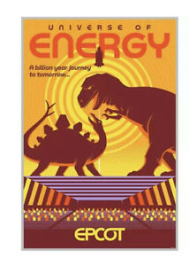 Universe of Energy Serigraph Poster, LE 200, Epcot Center, Eric Tan,