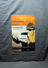 "Zz Top ""Billy Gibbons"" Orange Promo Poster"