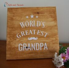 Father's Day Gift - Gift for Grandfather / Grandpa - World's Greatest Grandpa
