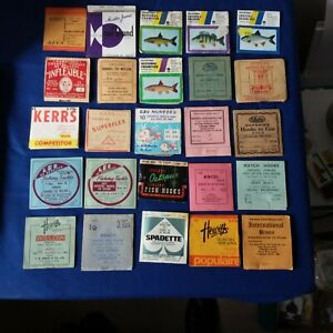 Vintage fishing hooks packet packets