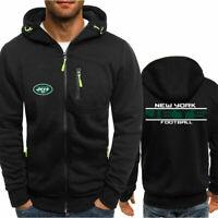 New York Jets Fan's Hoodie Sporty Jacket Sweater Zipper Coat Spring Autumn Top