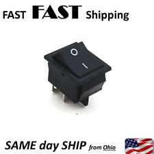 Rocker Switch Black SPST ON-OFF 4 PIN 15A 250VAC Max. - - 20A 125VAC Max.
