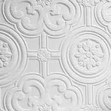 Angalypta Egon White Paintable Wallpaper - Highly Embossed Tile Effect Design -