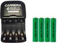 AA / AAA NiMH Smart Slim Travel Charger + 4-Pack AAA NiMH 1200 mAh Batteries