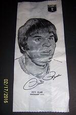 1976 Safelon Superstars Baseball Lunch Bag Pete Rose Hank Aaron Doublesided Mlb