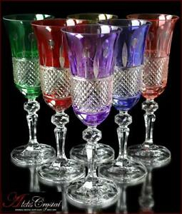 Bohemia Crystal Champagne Glasses 21 cm, 180 ml, SharmeL 6 pc New!