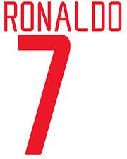 Manchester United Ronaldo Nameset Shirt Soccer Number Letter Heat Football Euro