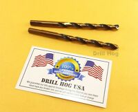"1/8"" Drill Bit 1/8"" HI-Molybdenum M7 HSS Twist 2 Pk Drill Hog Lifetime Warranty"