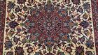 ANTIQUE SILK & WOOL WITH SILK FOUNDATION HAND KNOTTED ORIENTAL RUG  4.10 x 7.5