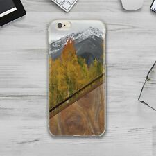 Autumn Geometry Wood iPhone XS Max Silicone Cover Case iPhone 6 7 8 Plus X 11 XR
