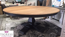 """Hamptons House"" Solid Timber Pedestal 6ft Round Dining Table 180cm 50+ COLOURS"