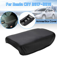 Microfiber Leather Car Center Armrest Box Surface Cover For Honda CRV   / #