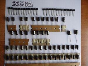 Reparatursatz Audio Board AKAI GX-210D Repairkit Transistoren Elkos