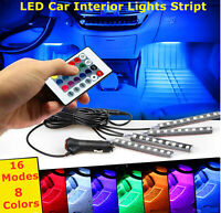 4PCS 36 LED Interior Car Atmosphere Neon Lights Stript IR Remote + Music Control
