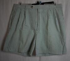 Men's Berle Green Seersucker Bermuda Shorts Size 36 S2
