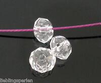 600 Klar Glasperlen Schliffperlen Facettiert Beads BICONE Rhombe 4mm